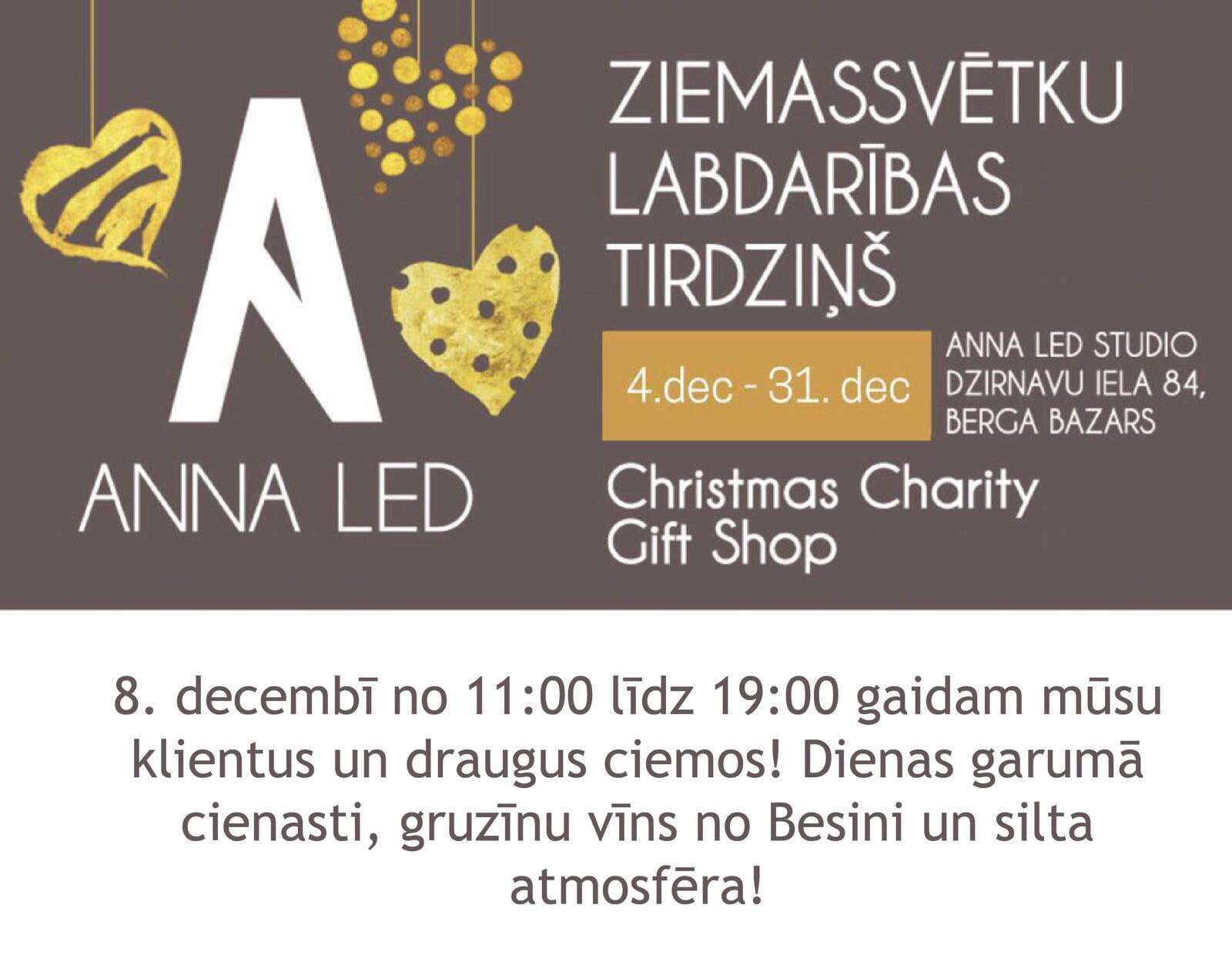 Charity Christmas Bazaar - studijā Anna Led